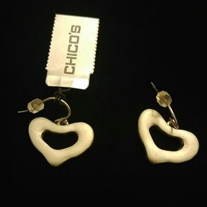 Chico's Heart Earrings (NWT)